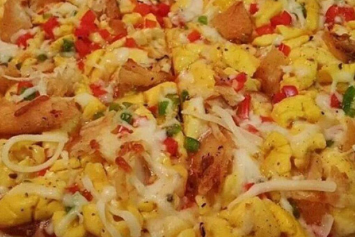 Ackee and Saltfish Pizza
